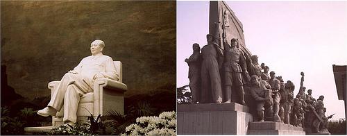 Escultura de Mao y Monumento a los Heroes 1978 Tiananmen por ti.